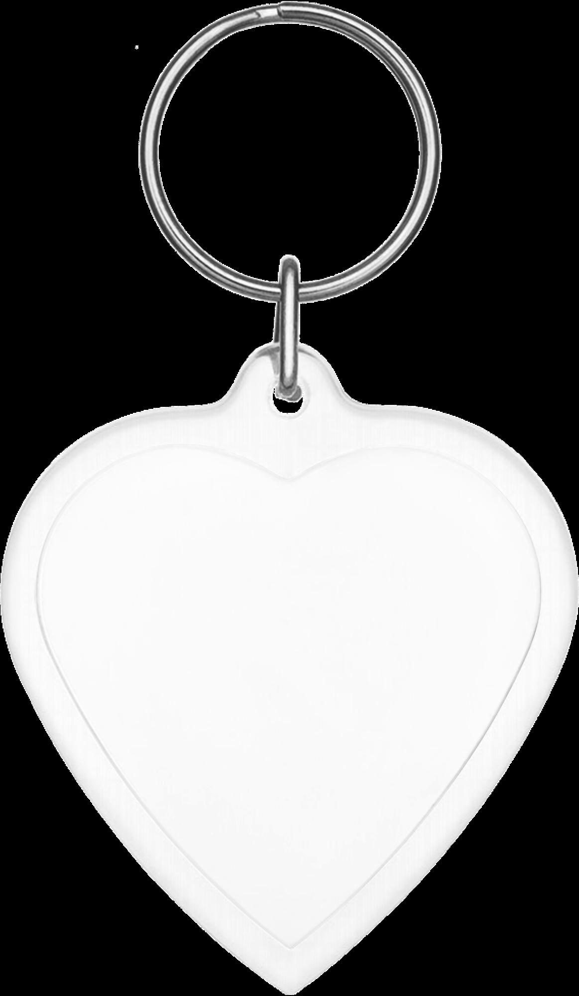 Plastic Heart Keychain